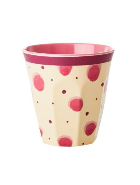 Gobelet - tache rose - medium