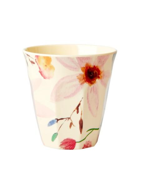 Gobelet - fleur aquarelle - medium