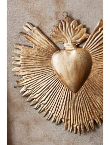 Ex-Voto Coeur Rayons Gold