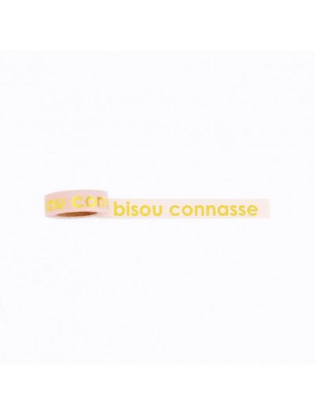 Masking Tape Bisous Connasse