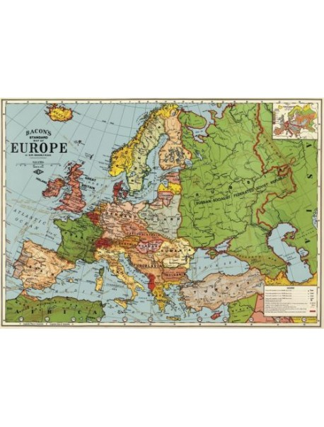 Affiche Carte de l'Europe