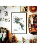 Affiche Carte Noirmoutier