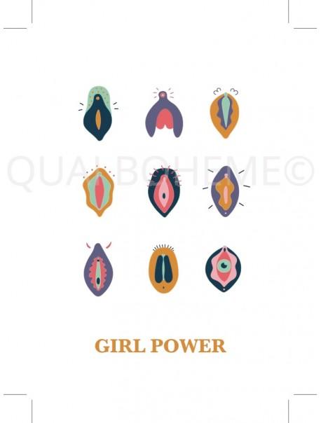 Carte Postale Girl Power