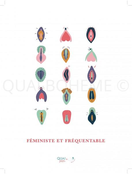 """Affiche """"Féministe et fréquentable"""""""