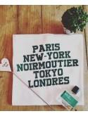 "Tee Shirt Homme  ""Paris NY Noirmoutier Tokyo"""