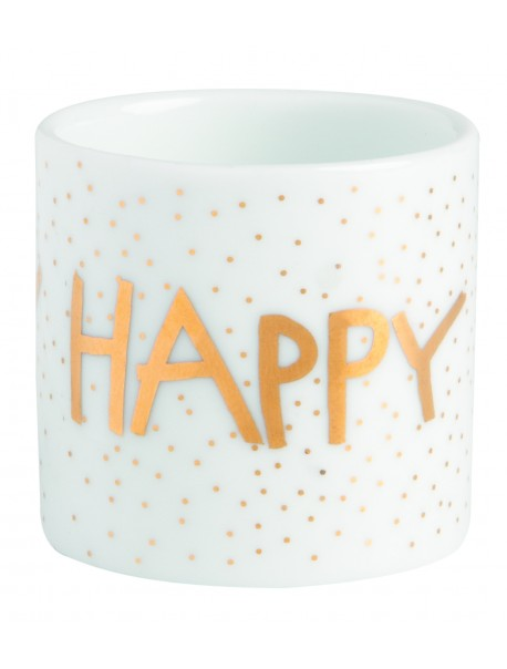 """Mini cache pot porcelaine """"Happy Birthday"""""""
