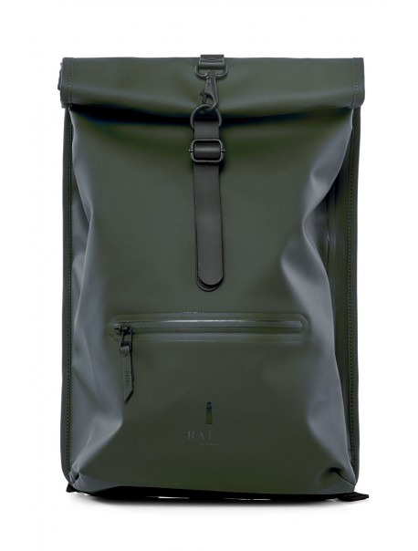 Roll Top Rucksack Green Rains
