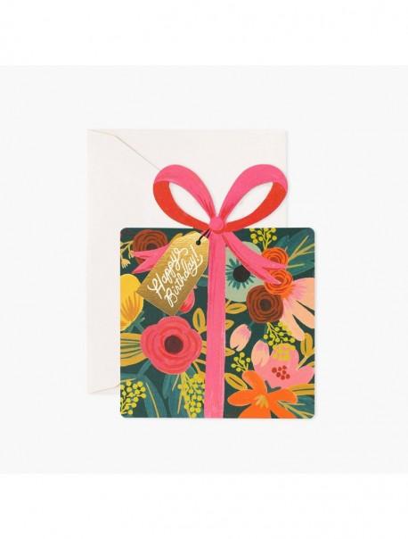 Carte double  -  Birthday present