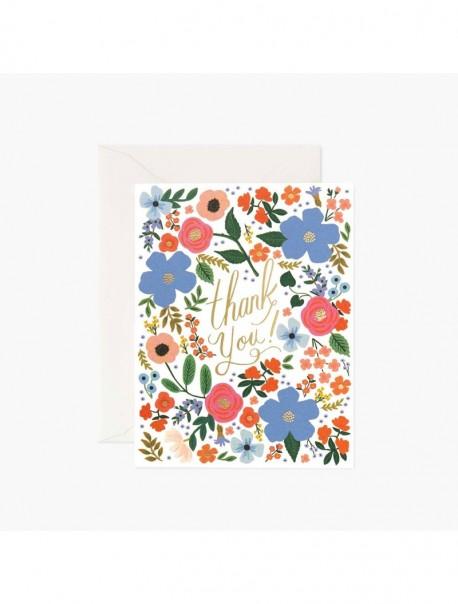 Carte double - Wild Rose Thank You