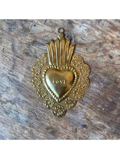 Ex-Voto Coeur Flower Love Gold