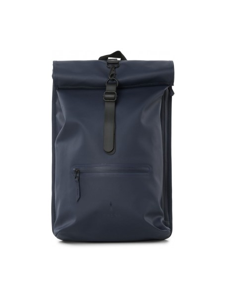 Roll Top Rucksack Blue Rains