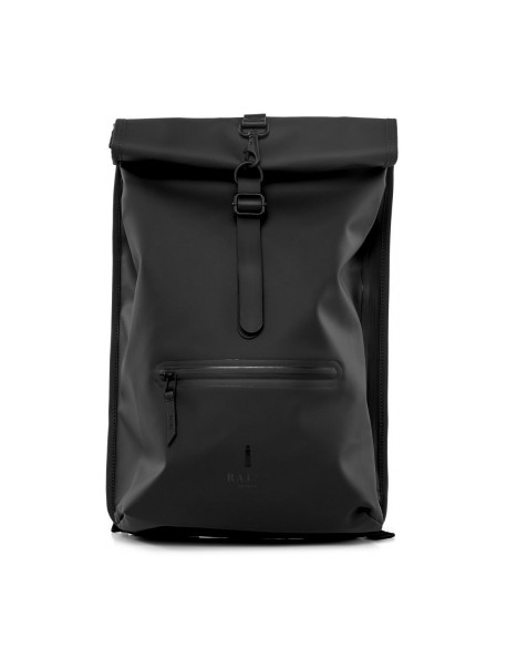 Roll Top Rucksack Black Rains