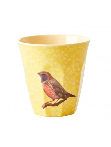 Gobelet - Oiseau Vintage / Jaune - medium
