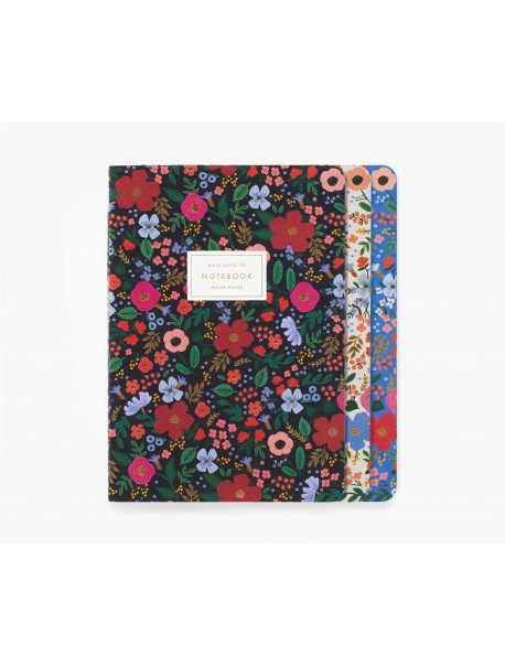 Cahier Wild Rose avec couverture en tissu