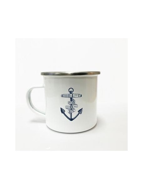 "Tasse Email ""Ancre Fish Or Die"""
