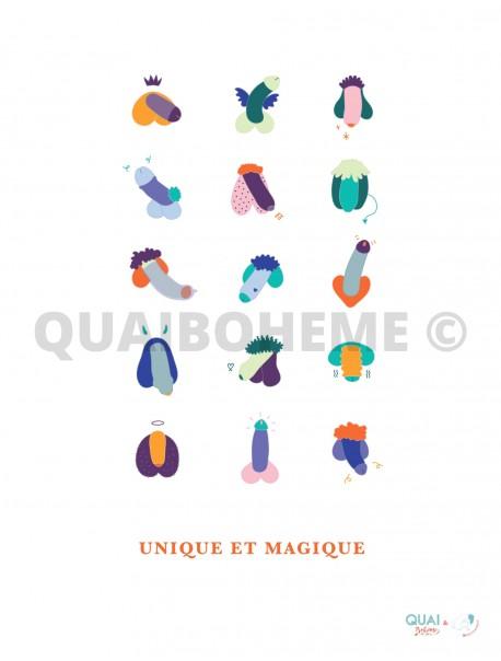 """Affiche """"Unique et Magique"""""""