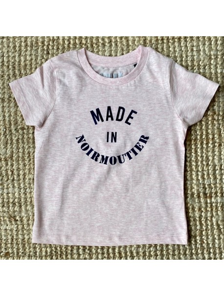 Tee shirt enfant Made In Noirmoutier Rose