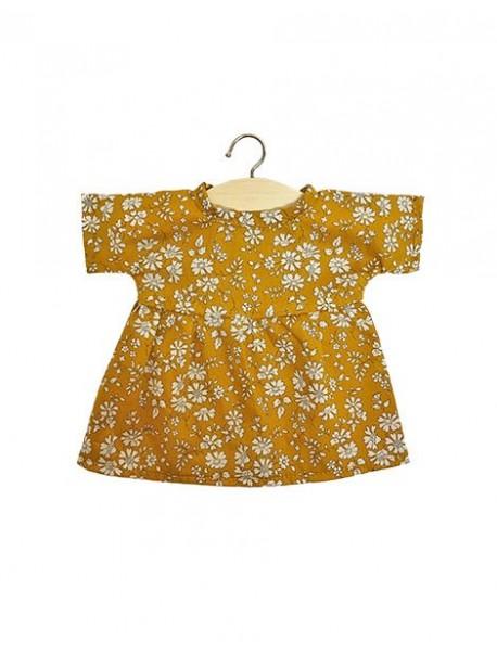 Robe Faustine en coton Liberty Tana lawn moutarde