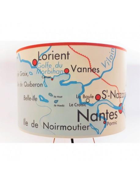 Abat Jour Carte Vintage Noirmoutier