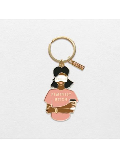 "Porte clef ""Feminist Bitch"""