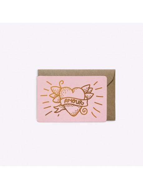 Mini Carte Love Tatoo Rose