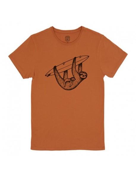 "Tee shirt ""Sloth & Surf"" - Rust"