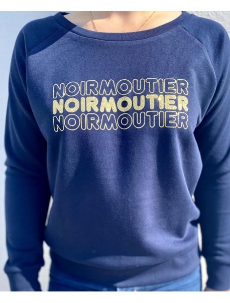 """Sweat """"Noirmoutier """" Marine/Or"""