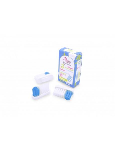 Recharge 3 têtes de brosse à dents - Medium