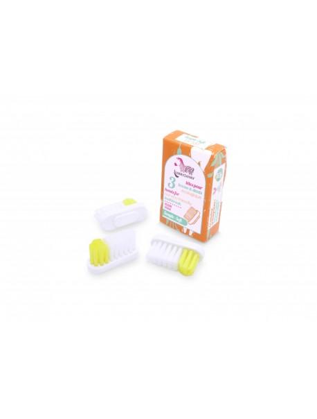 Recharge 3 têtes de brosse à dents - Souple