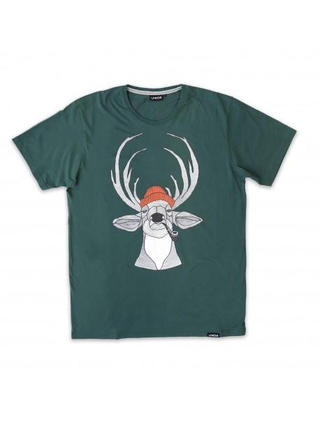 Tee Shirt - Rênes - Vert Foncé