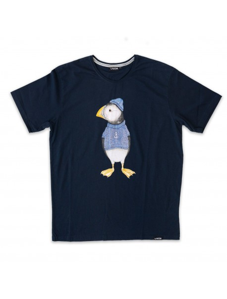 Tee Shirt - Macareux - Blueberry
